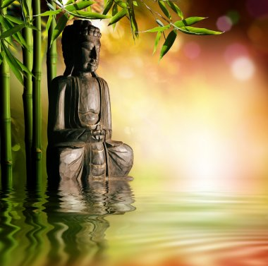 Spiritual background of Asian culture with buddha