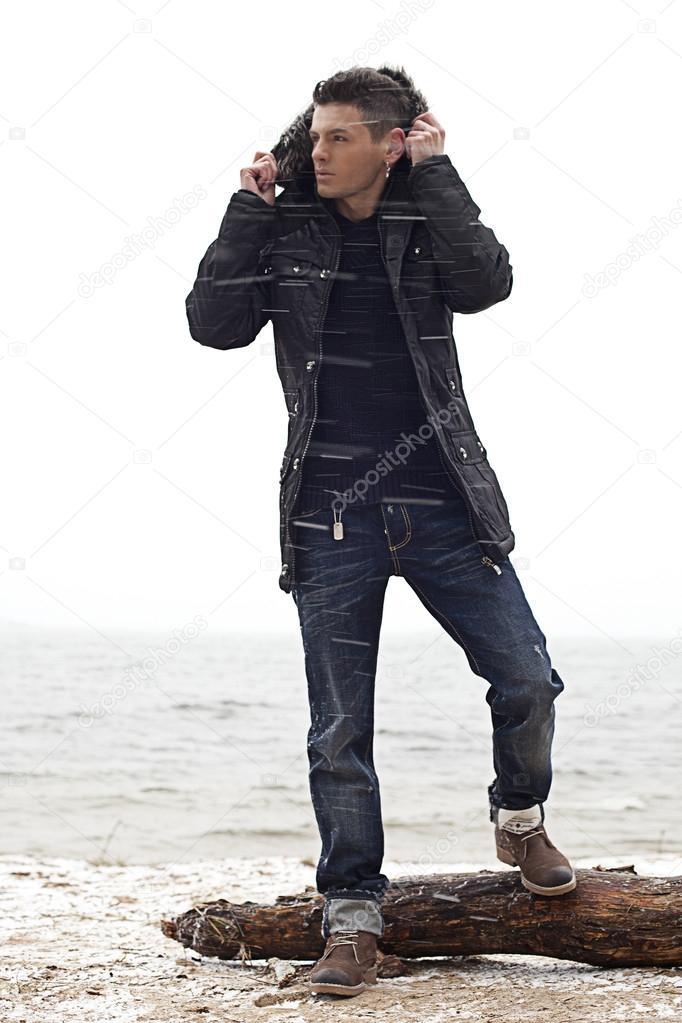 Brutal guys on the beach