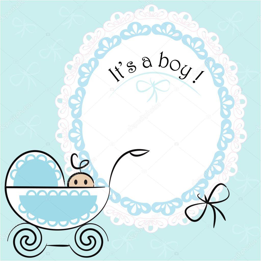 baby card its a boy theme stock vector julijadesign 33658661