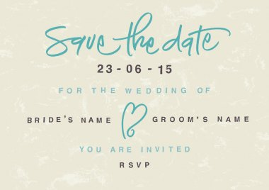 Hand-written Save the Date. EPS vector file. Hi res JPEG included. clip art vector