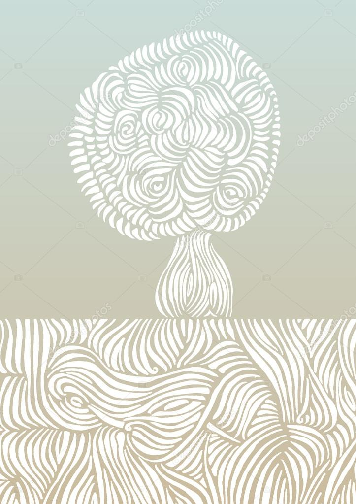 Roots and tree vector illustration
