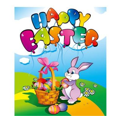 Happy easter egg rabbit