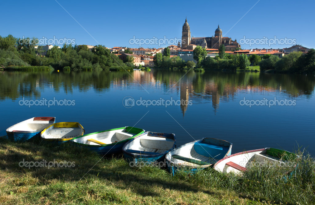 Boats next in front of Salamanca