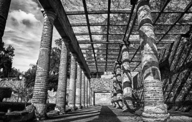 Gardens of the Roman theater in Merida