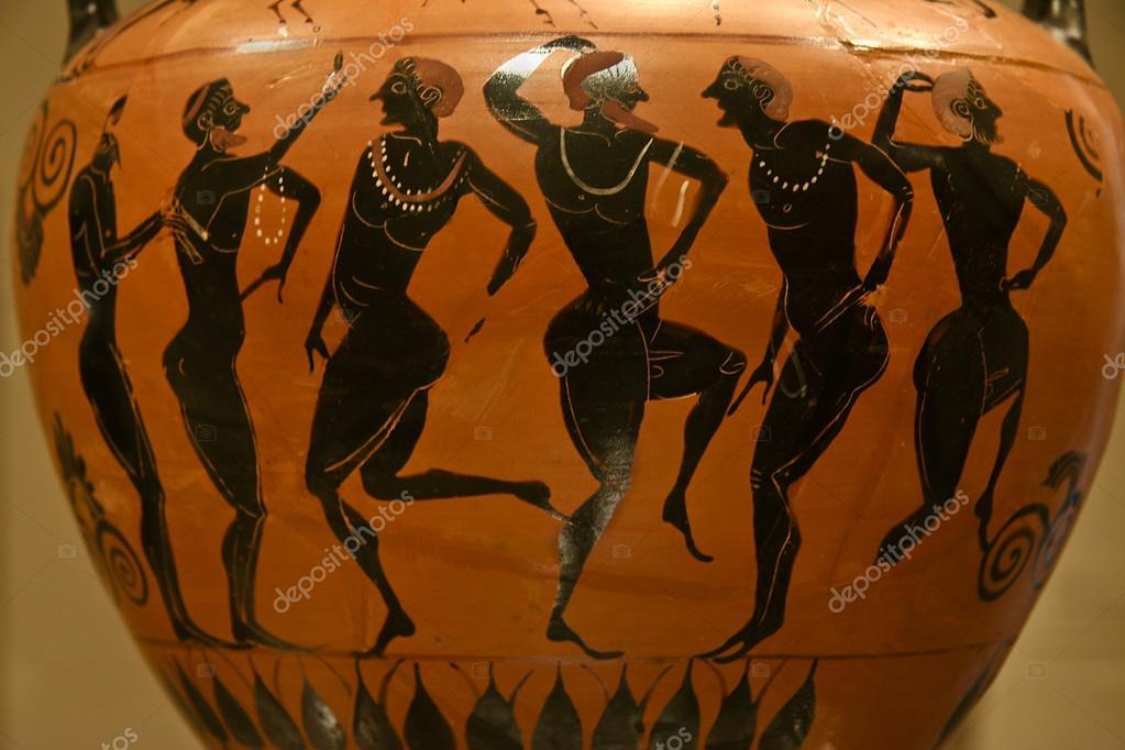 Vaso in terracotta di greco antico fotos de stock juan for Vaso greco antico