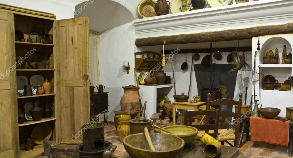 Alte Küche In Eine Primitive Rustikalen Stil Reproduktion, Badajoz, Spanien  U2014 Foto Von Juan_G_Aunion
