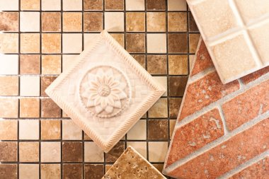 Decorative ceramic tile