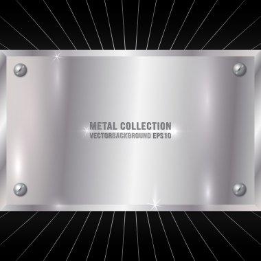 Vector Metallic Silver Plate