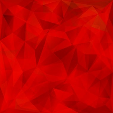 Vector red geometric background