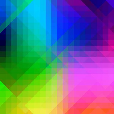 Vector abstract multi color pixelized template background stock vector