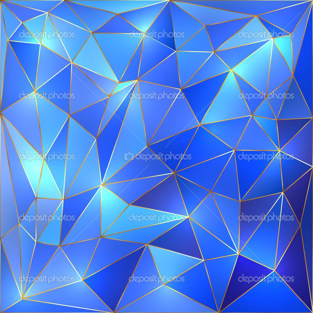 Cristallo Blu E Oro Vettoriali Reticolare Sfondo Vettoriali Stock