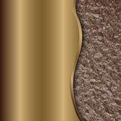 Vektorové bronzové pozadí abstraktní s křivkou a fólie
