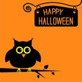 Fényképek boldog halloween aranyos bagoly kártya