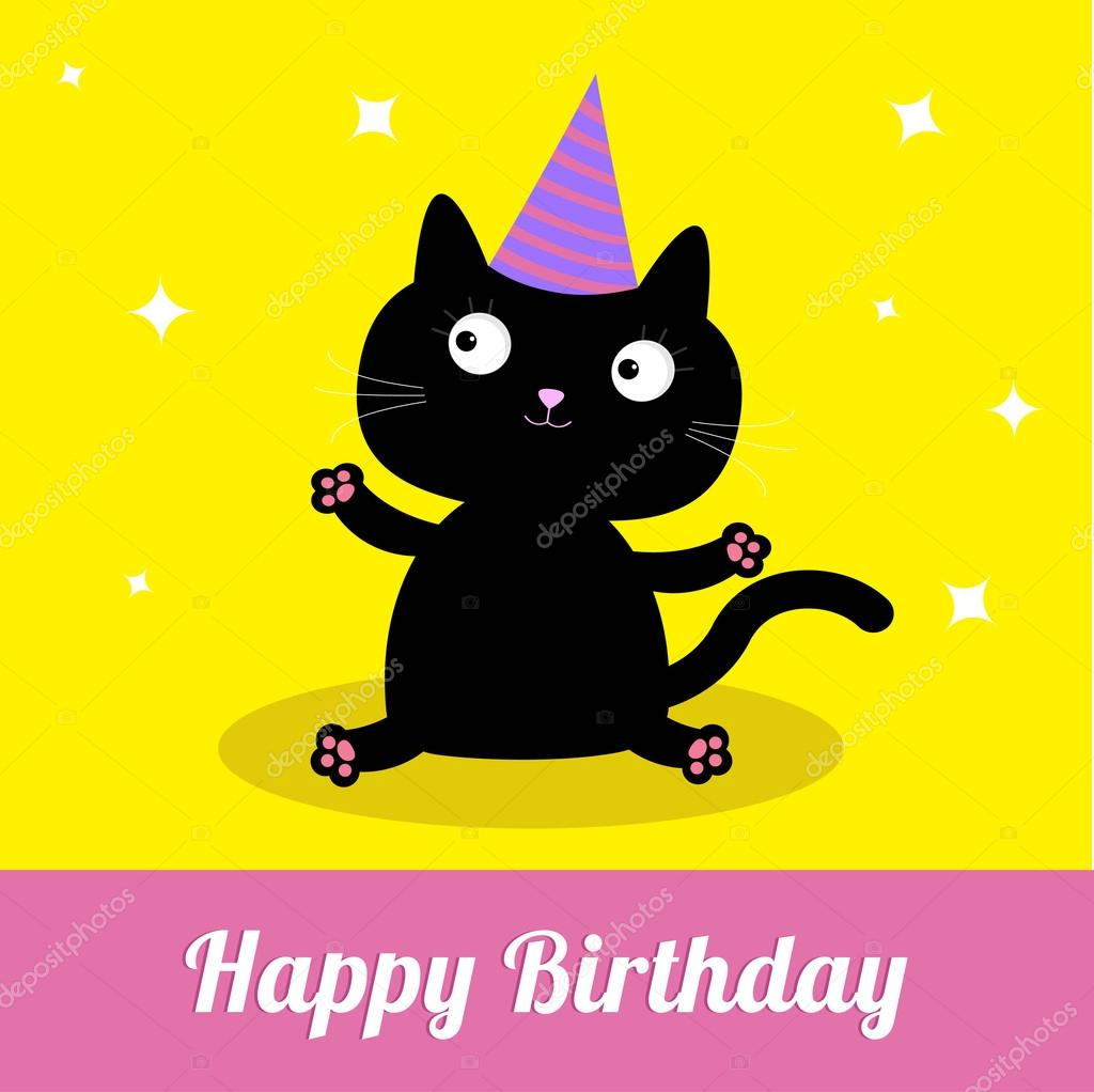 Image result for birthday black cat clipart