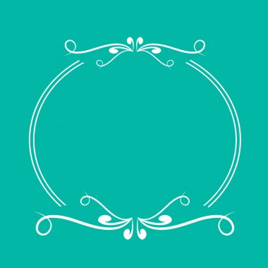 Calligraphic round frame .  Abstract design element .