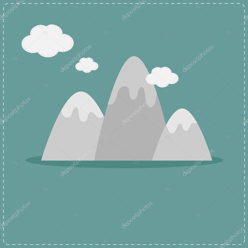 Mountain and clouds. Template