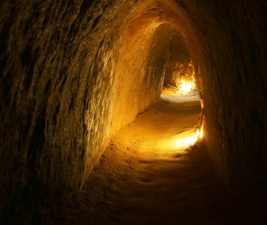 Cu Chi tunnel with underground dug out