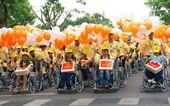Skupina neplatné lidí na vozíku