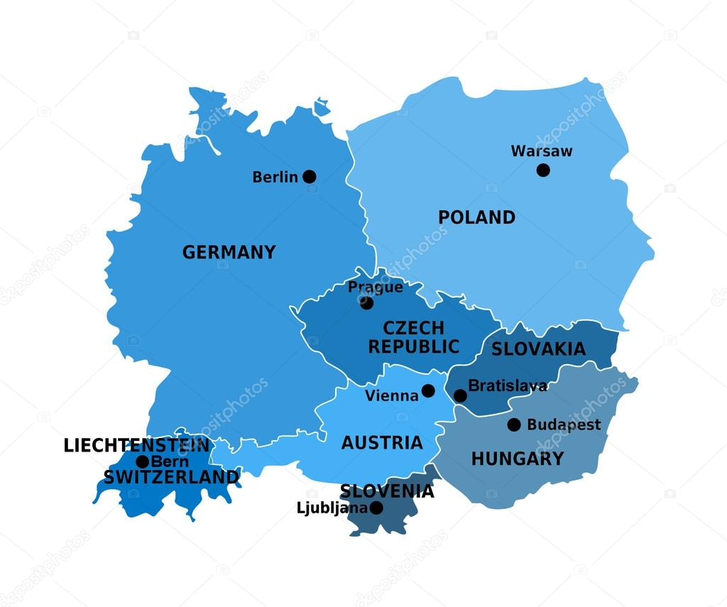 Mapa De Europa Central.Central Europe Stock Photo C Goldy83 41765829