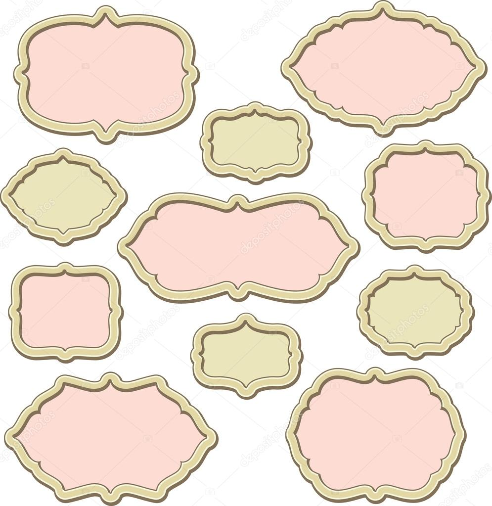 Set of vector decorative frames