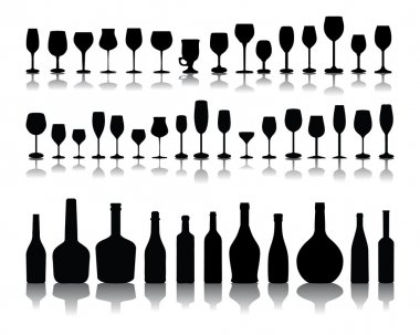Glasses and bottles of wine