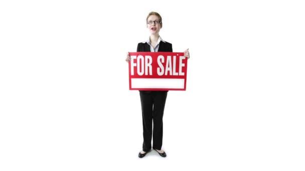 Üzletasszony jel eladó
