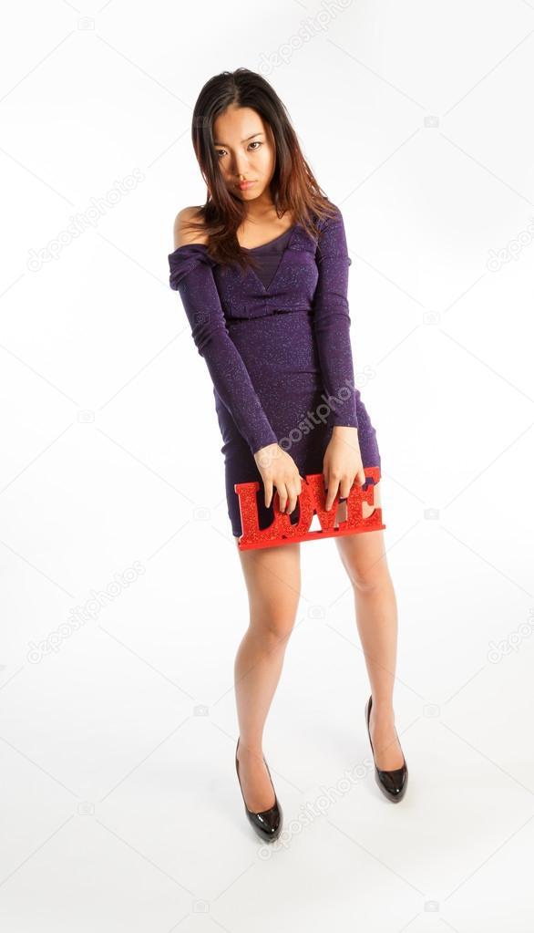 Asian girl posing