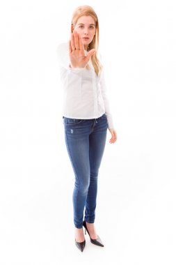 Stop gesture sign