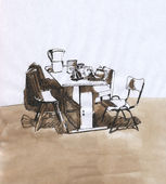 Fotografie Table with chairs