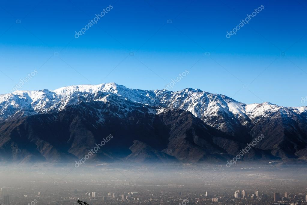 City with mountain