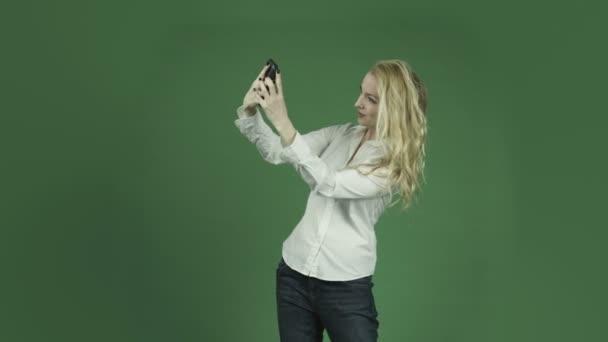Selfie einer kaukasischen Frau