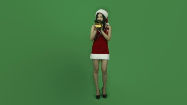 Girl taking photography on polaroid