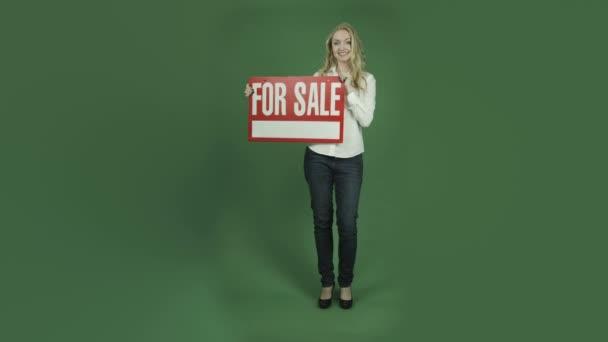 nő értékesítés jel