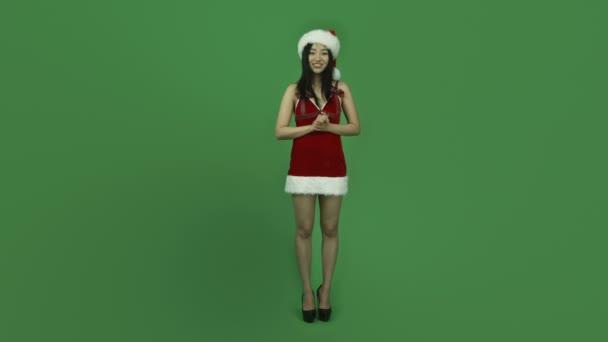 Mädchen sexy Weihnachtsmann claus