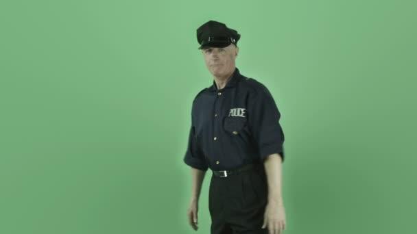 policista takže palec nahoru znamení