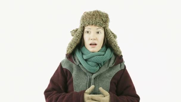 dívka s zimní oblečení