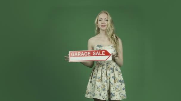 nő jele, garázs eladó