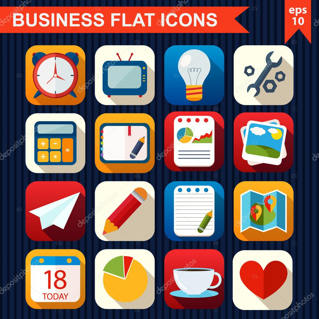 Flat icons for Web and Mobile App