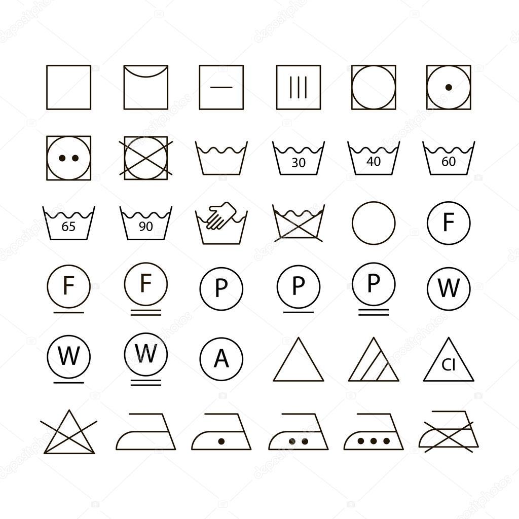 Satz Von Waschmaschine Symbole Stockvektor Yulias07 40588411