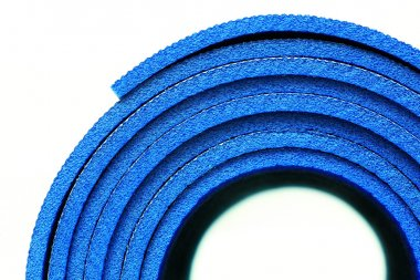 A part of rolled up yoga mat
