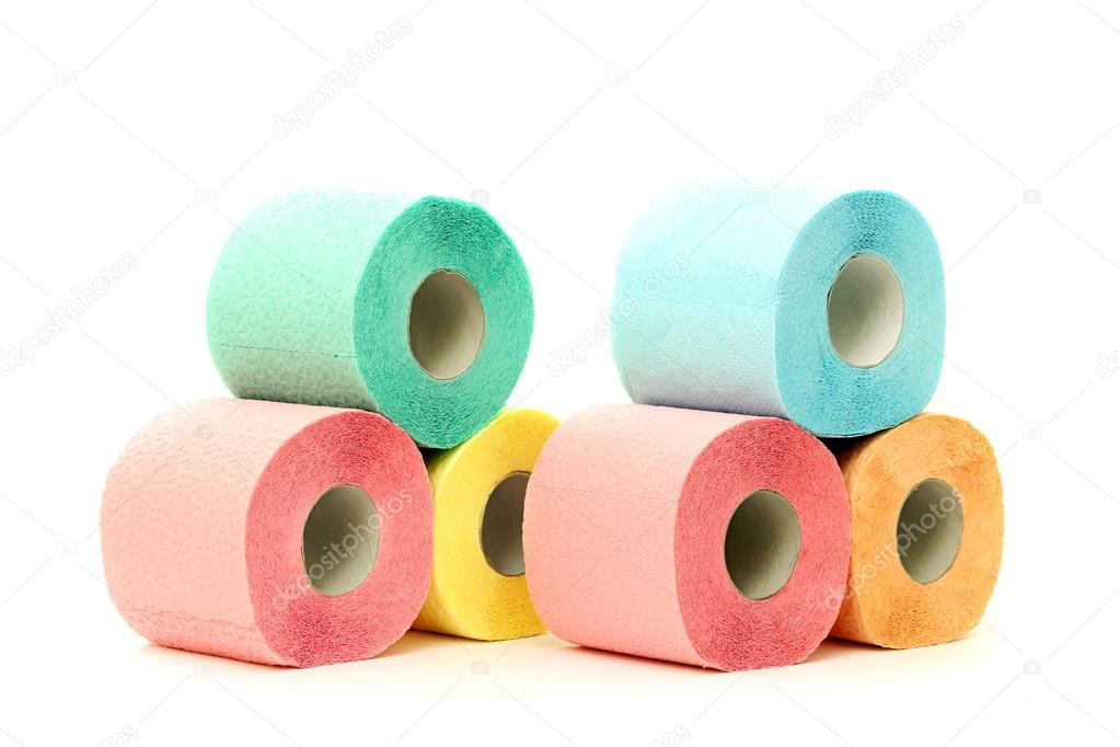 Rotoli Di Carta Colorata : Rotoli di carta igienica colorata u foto stock pavelkubarkov