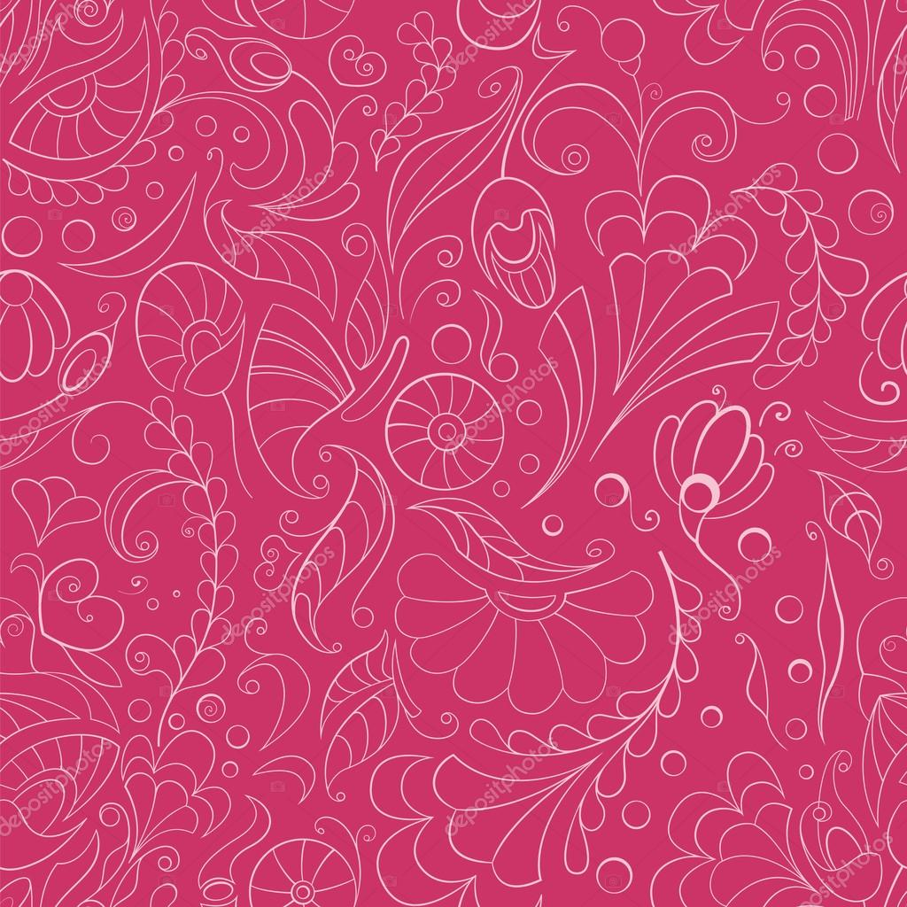 Background Seamless Pink Floral Seamless Pink Floral Background