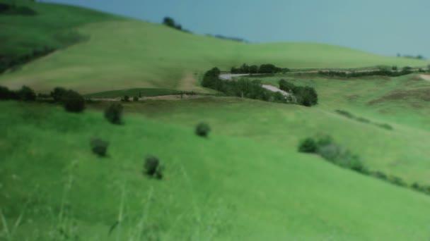 strada attraverso Toscana Italia