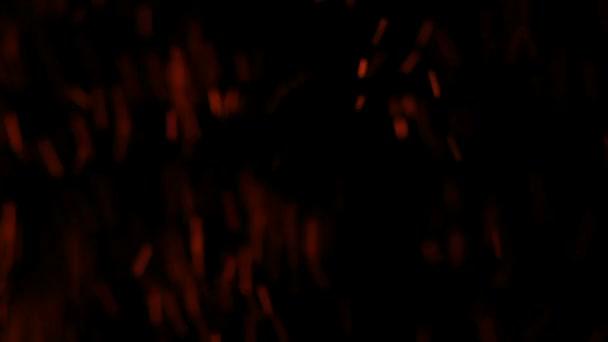 reálné částice jiskry z ohně