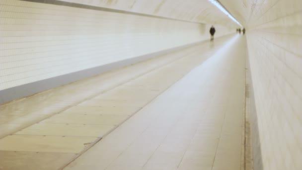 Distant Man Walking in a Tunnel Version III