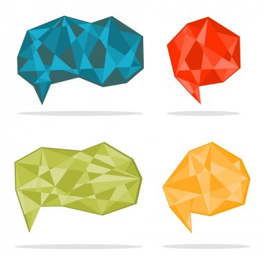 Vector trendy crystal shapes