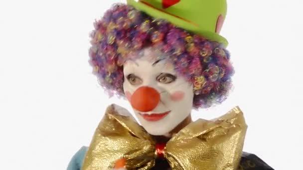 legrační klaun vyhodit balón