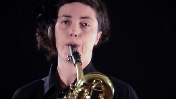 Bariton-Saxofonist, hautnah