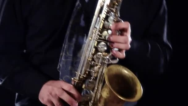 Sax játékos közelről