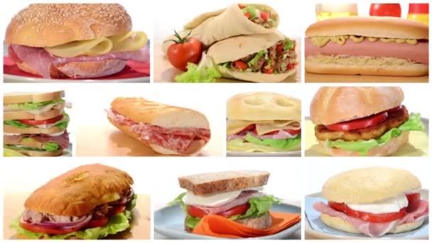 sendviče koláž